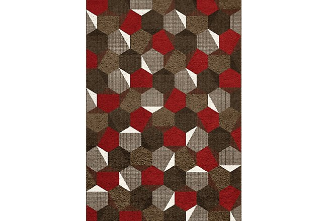 Camino Red Poly 8x10 Area Rug