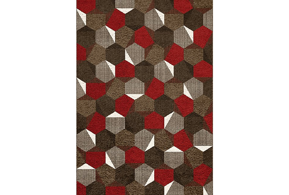 Camino Red 8x10 Area Rug