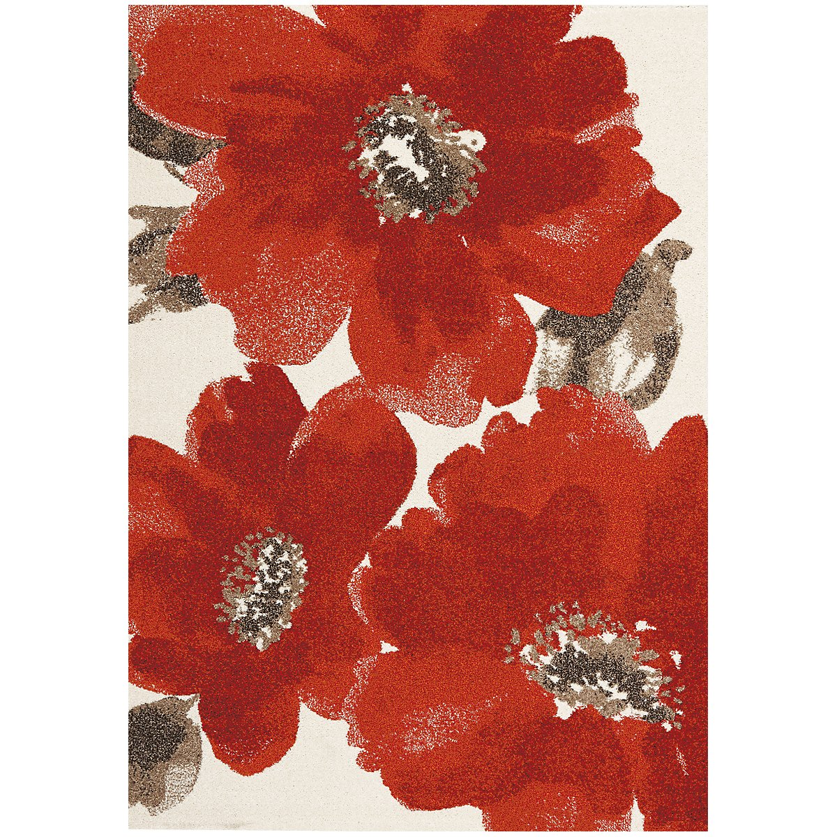 Camila Red 5X8 Area Rug