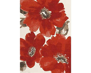 Camila Red 8X10 Area Rug