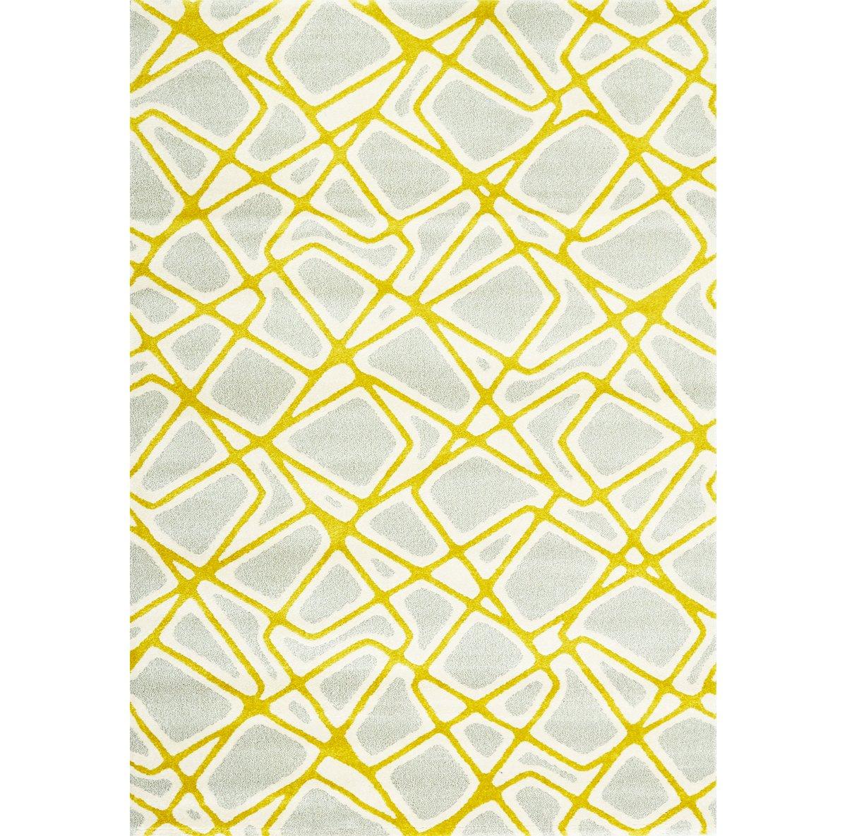 Salina Yellow Poly 5x8 Area Rug