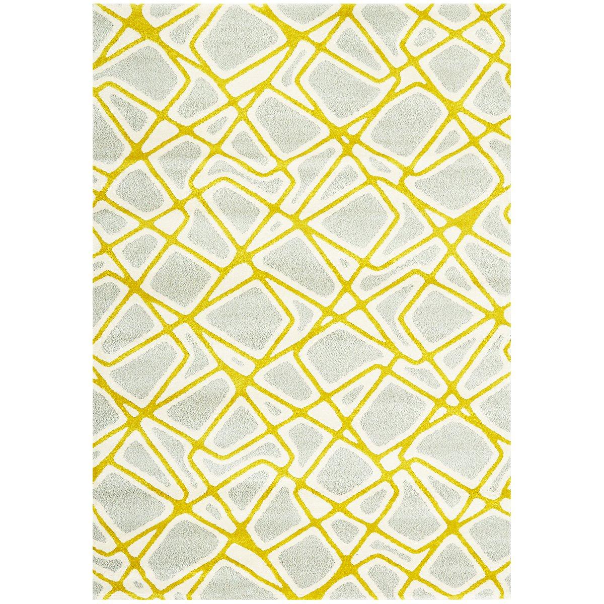 Salina Yellow 5X8 Area Rug