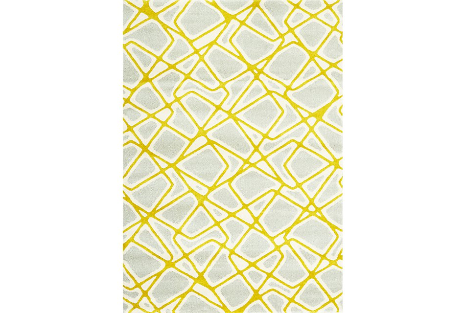Salina Yellow  5x8 Area Rug