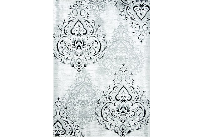 Bella White Poly 8x10 Area Rug