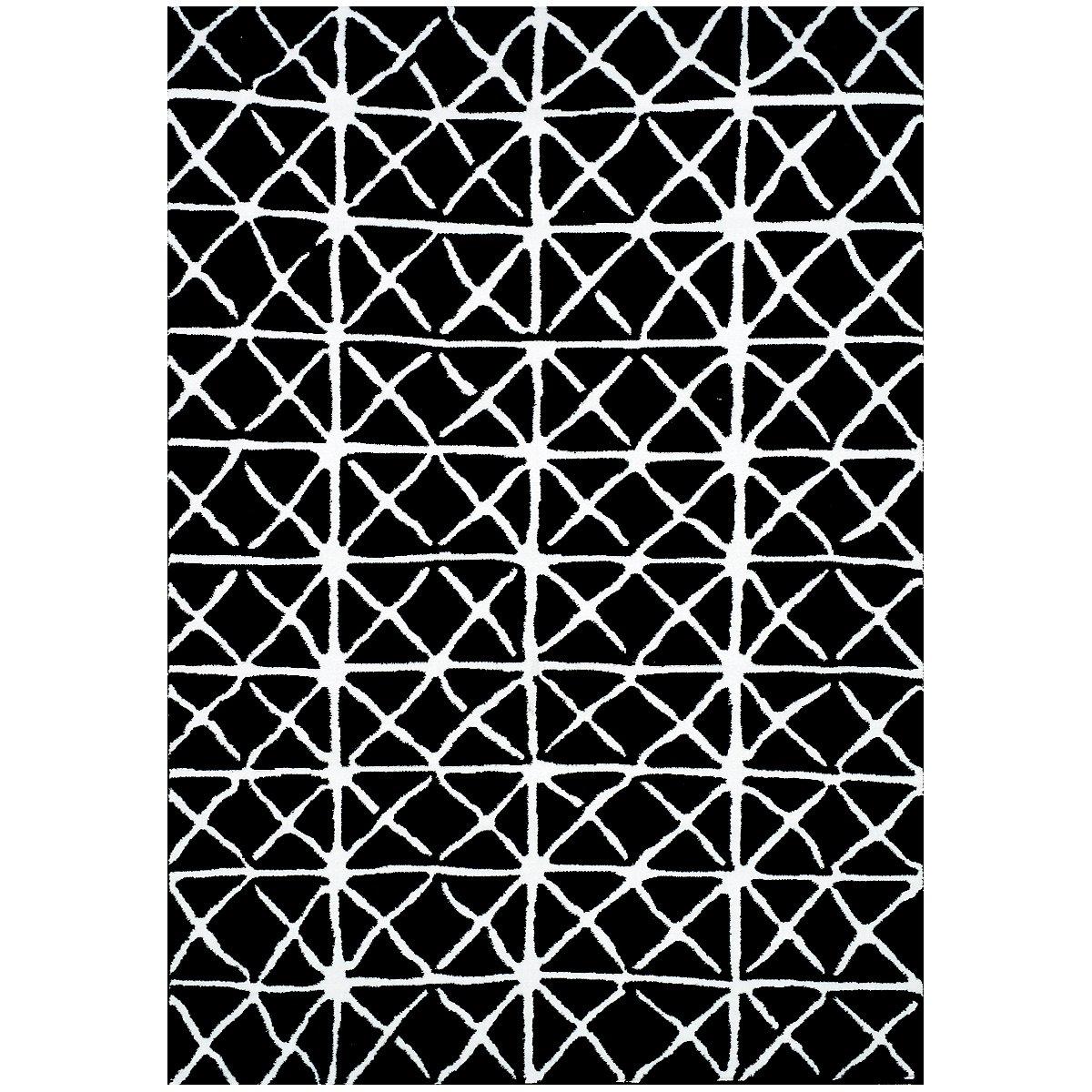 Alaric Black 5X8 Area Rug