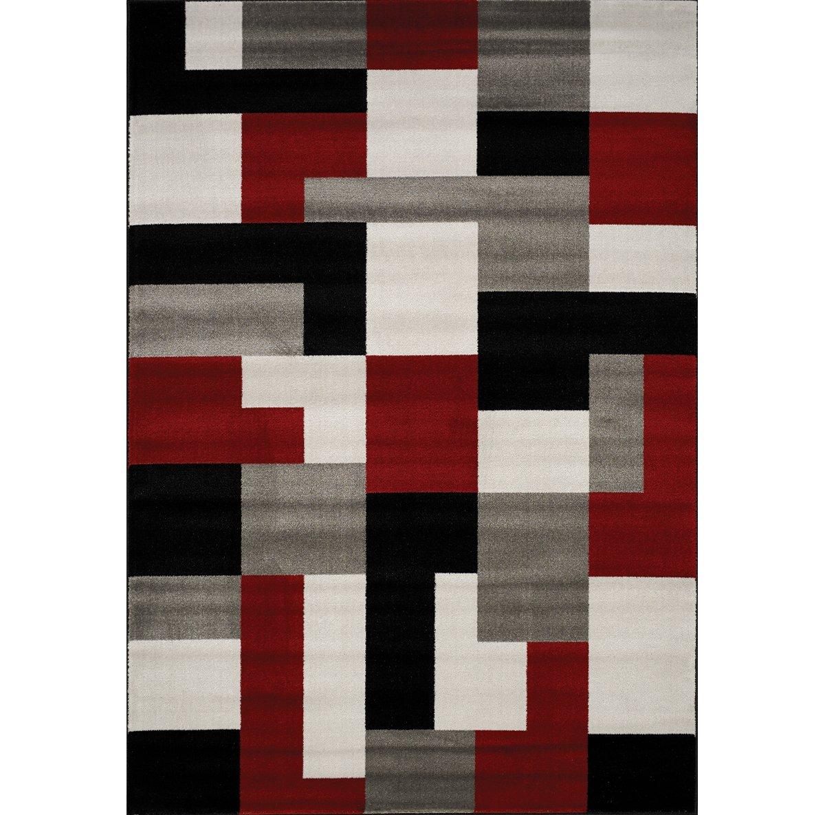 Tetris Multicolored Poly 8x10 Area Rug