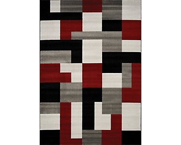 Tetris Multicolored 8X10 Area Rug