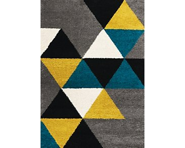 Maroq Multicolored 5X8 Area Rug