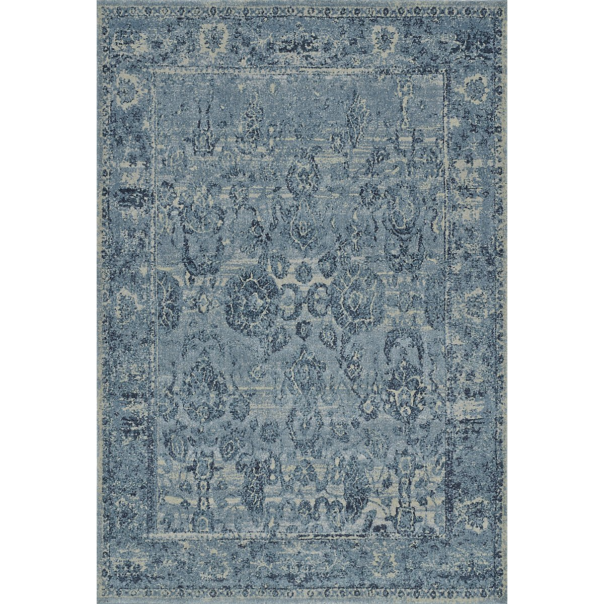 Geneva Dark Blue 5x8 Area Rug