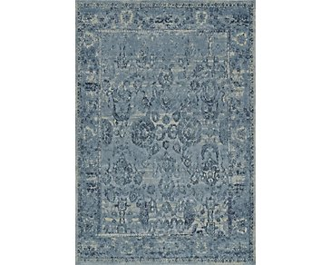 Geneva Dark Blue 8X11 Area Rug