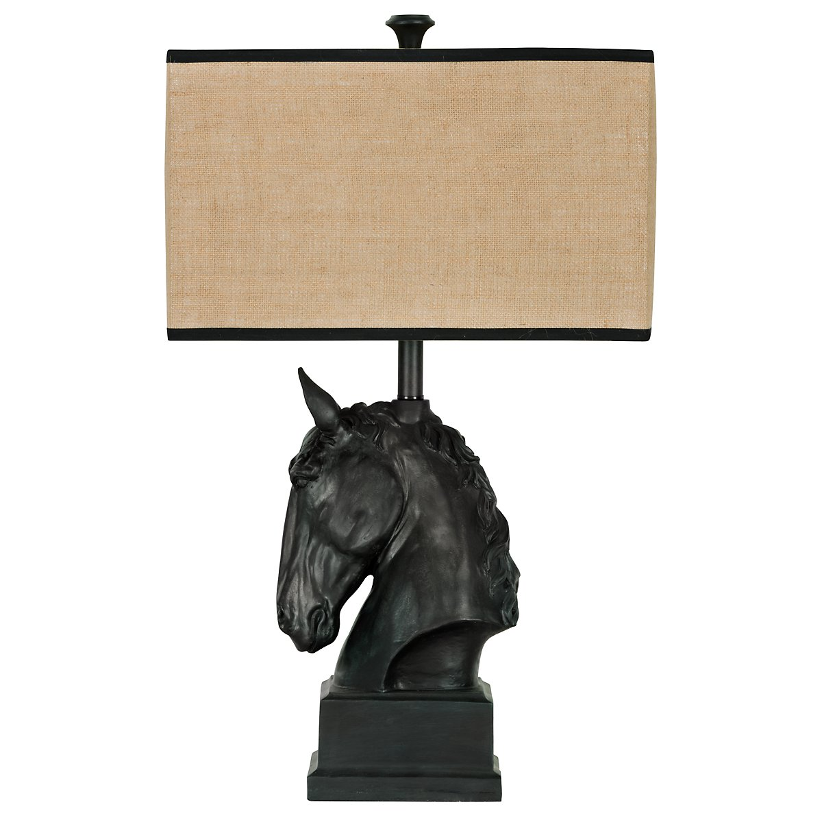 Stallion Black Table Lamp