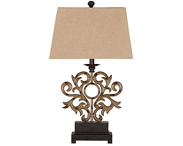 Addison Dark Beige Table Lamp