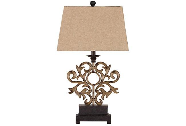 Addison Dark Beige Cast Iron Table Lamp