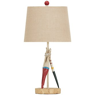 Bobber Beige Table Lamp
