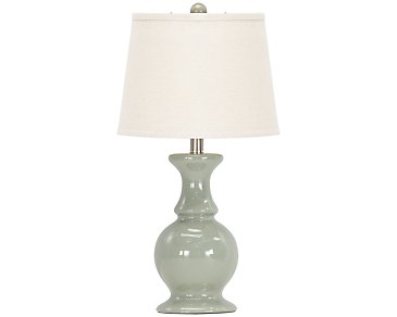 Sand Dune Light Blue Table Lamp