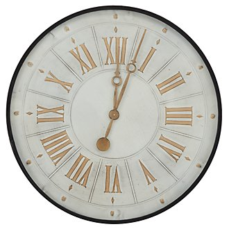 Broad White Wall Clock