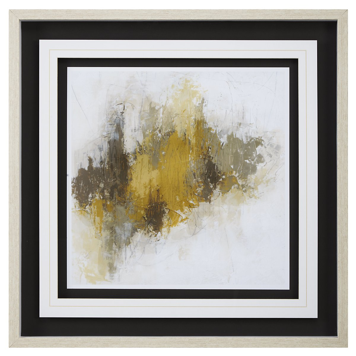 Saffron2 Yellow Framed Wall Art