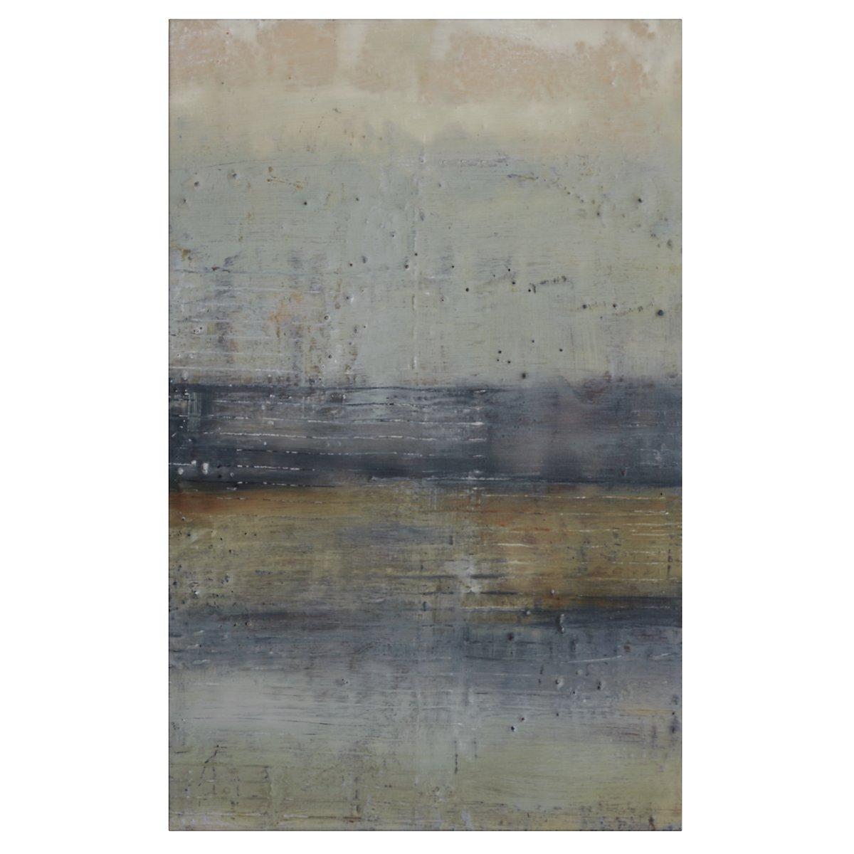 Glimmer2 Light Blue Canvas Wall Art