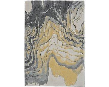 Bleecker Yellow 5X8 Area Rug