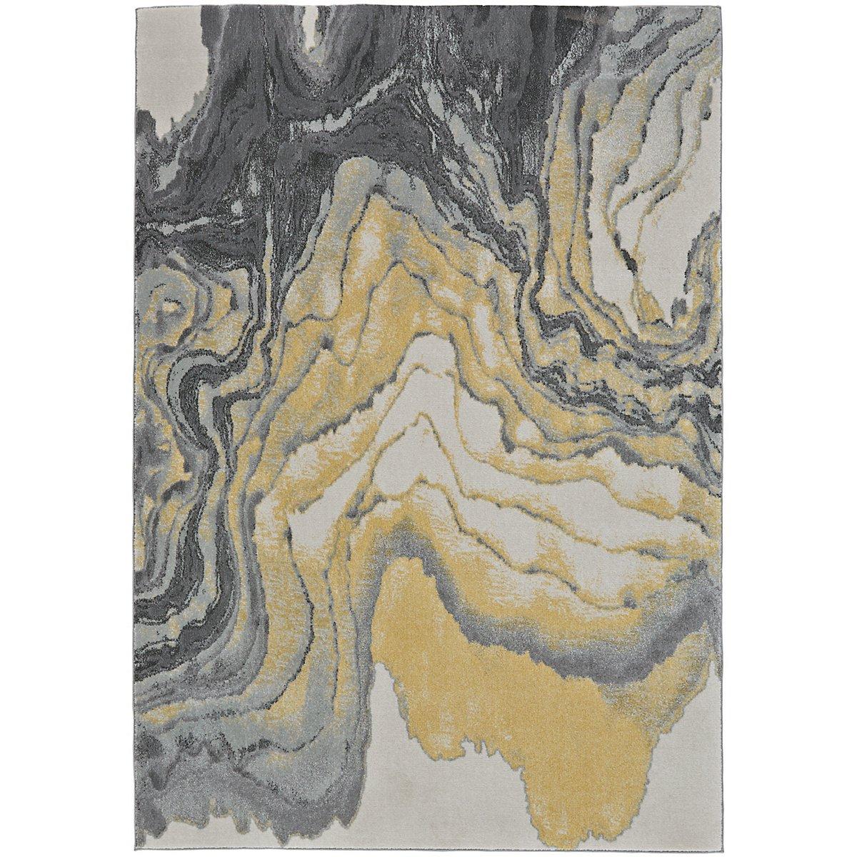 Gray 8x11 Area Rugs: Bleecker Yellow 8x11 Area Rug