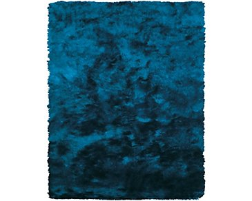 Indochine Teal 5X8 Area Rug