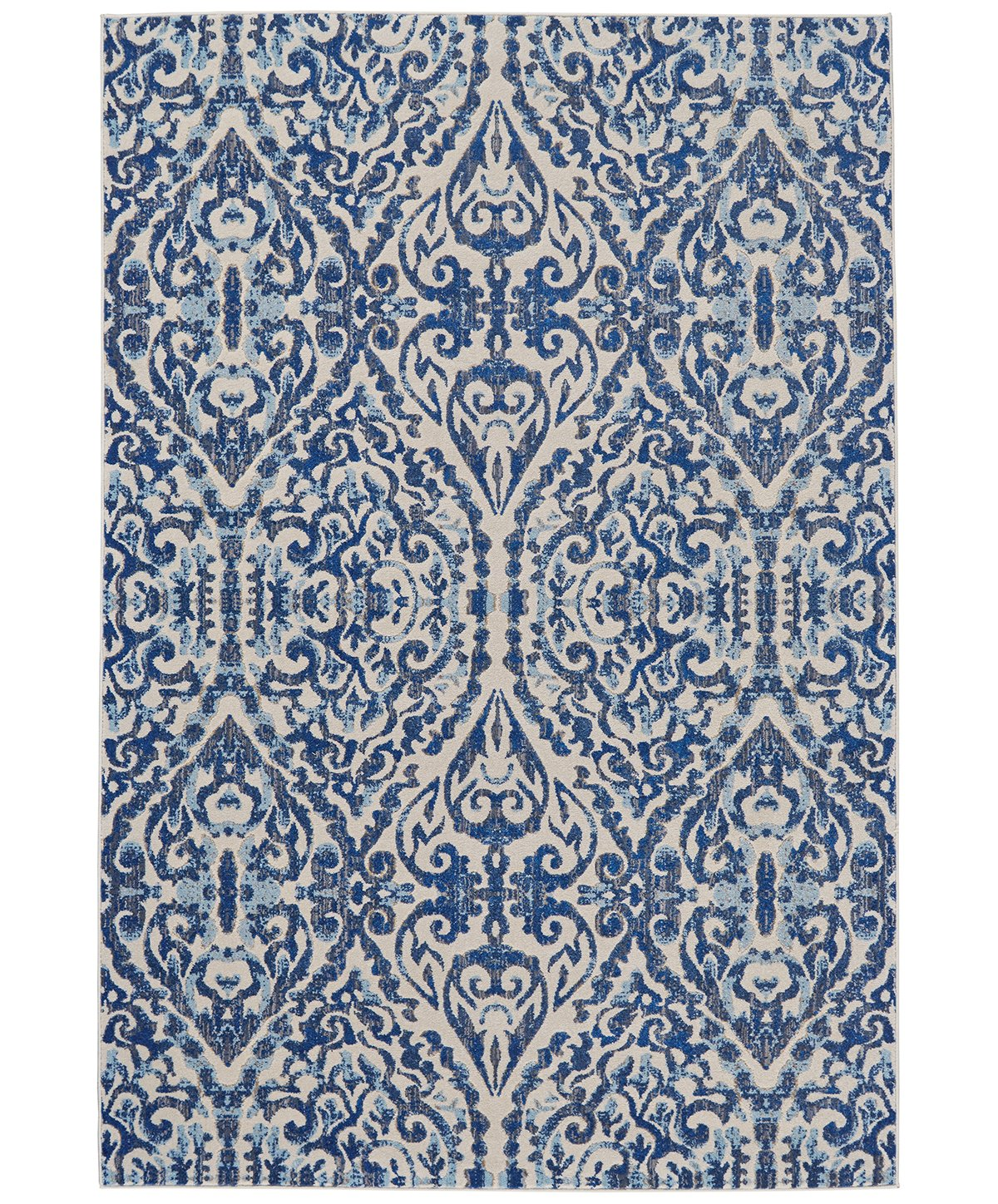 Milton Blue Poly 5x8 Area Rug