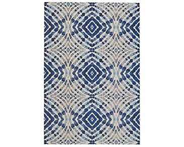 Keaton Dark Blue 5X8 Area Rug