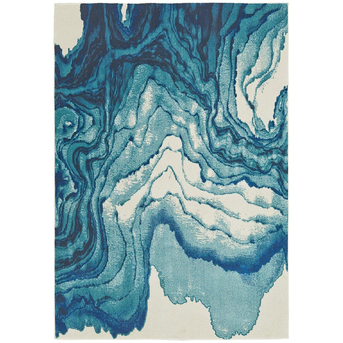 Bleecker Blue 5X8 Area Rug
