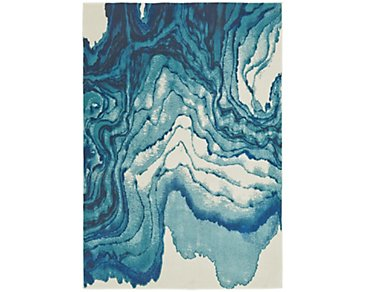 Bleecker Blue 5X8 Area Rug