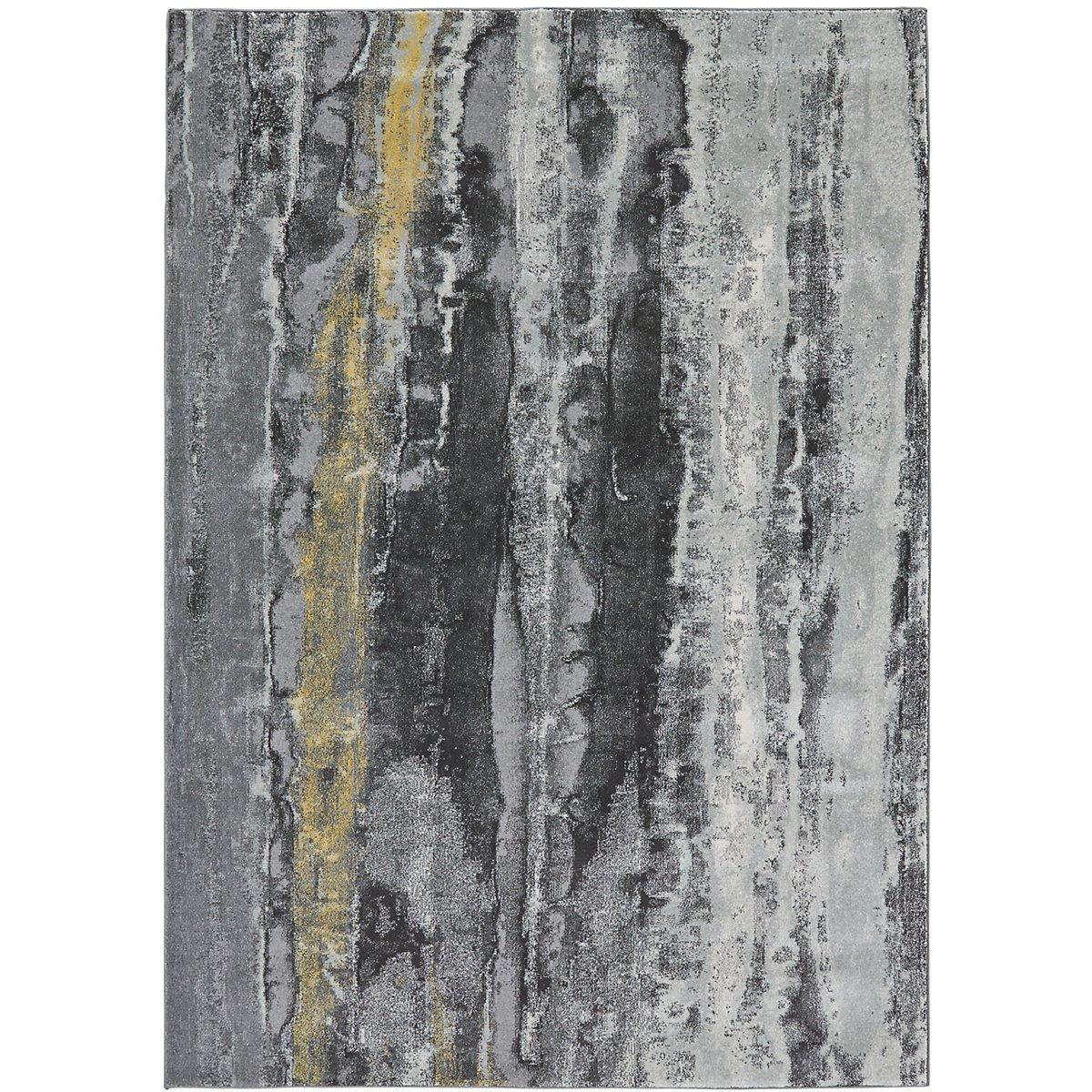 Aura Yellow 5X8 Area Rug