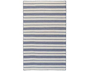 Duprine Dark Blue Indoor/Outdoor 5x8 Area Rug