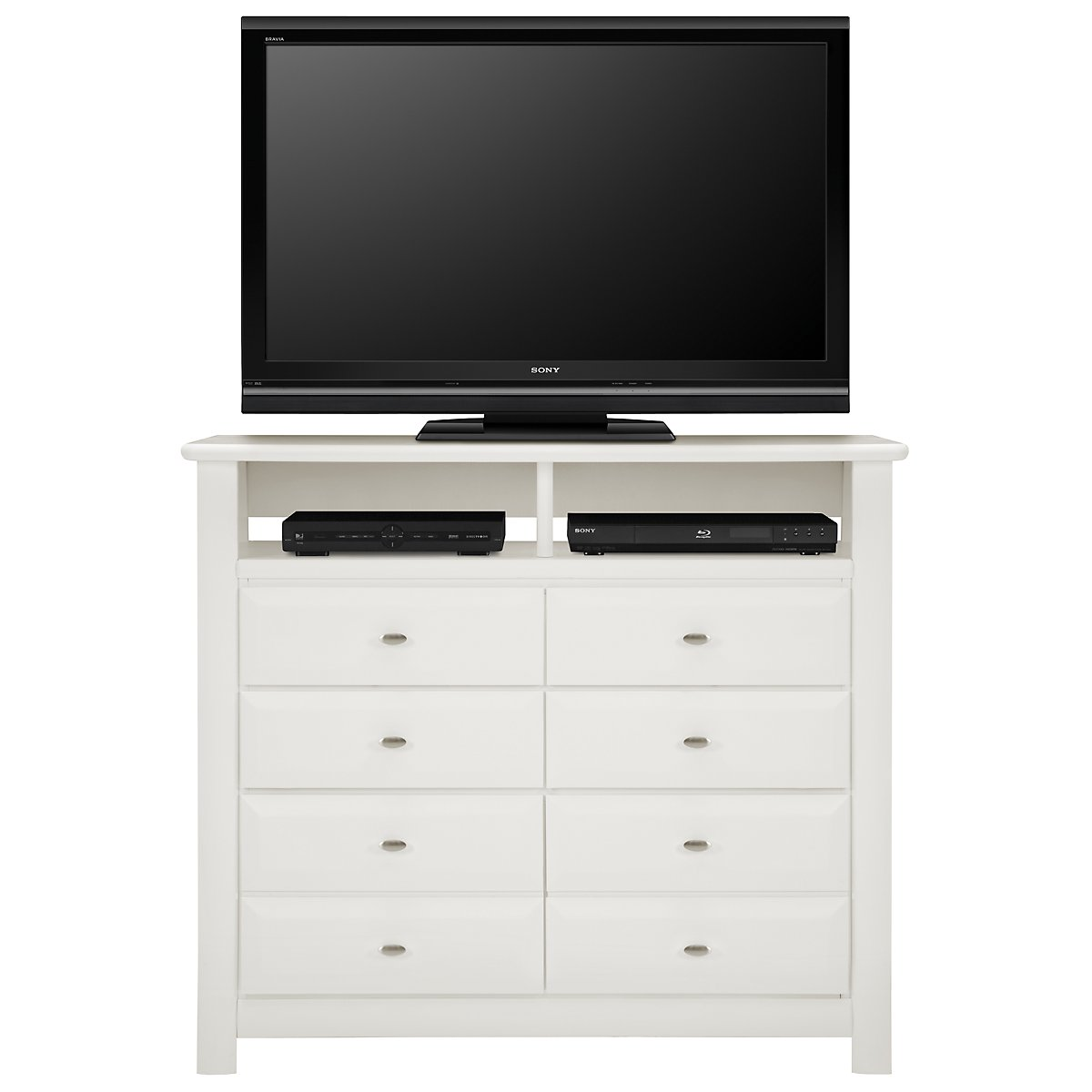 Laguna White Wood Media Chest