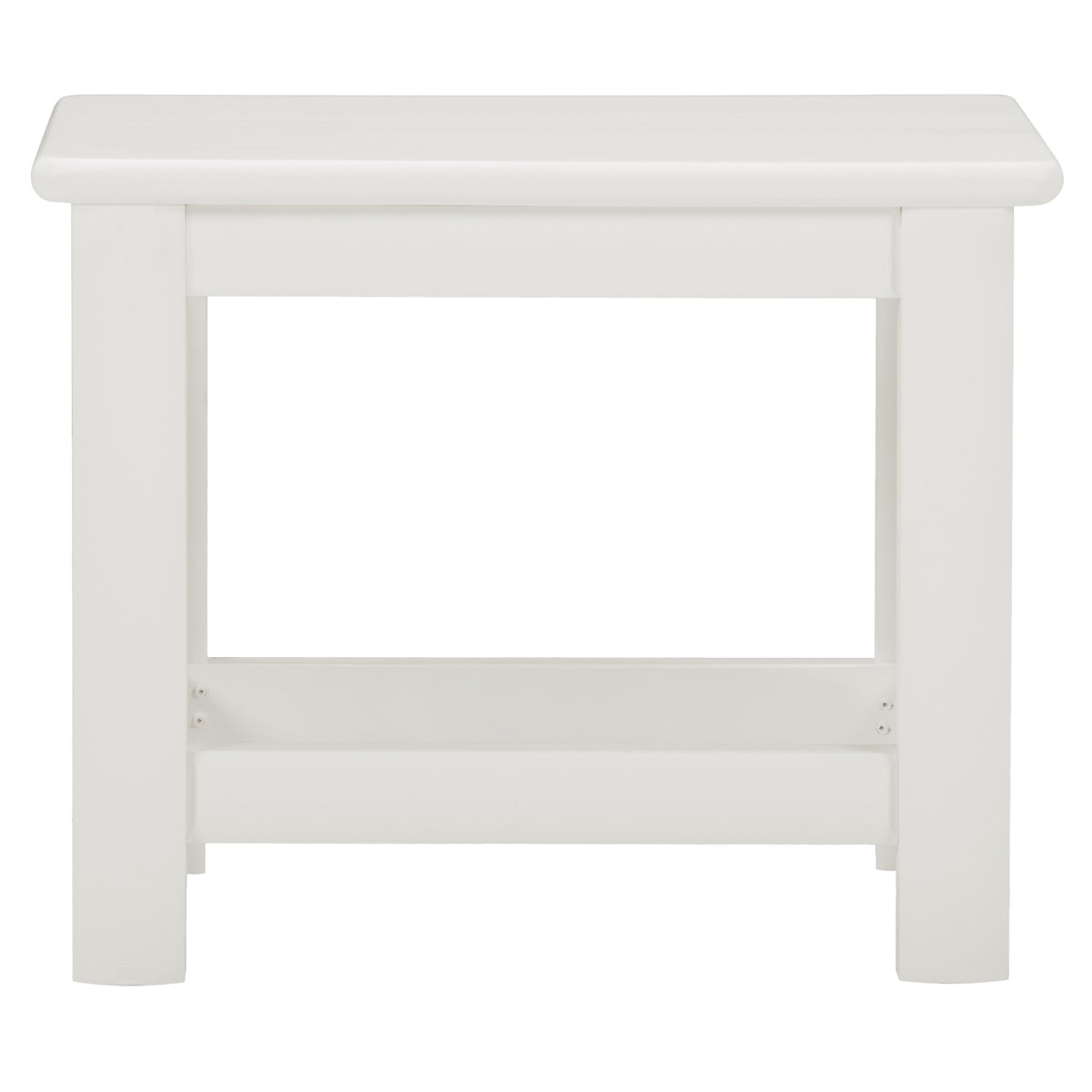 Laguna White Wood Bench