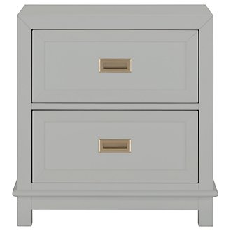 Ryder Gray 2-Drawer Nightstand