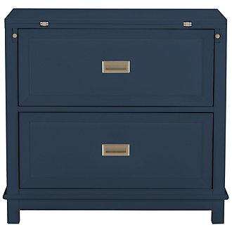 Ryder Dark Blue Flip-Top Nightstand