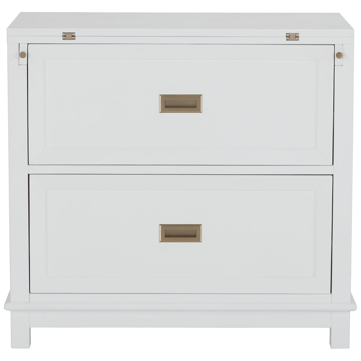 Ryder White Wood Flip-top Nightstand