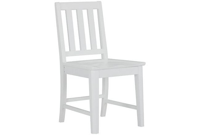 Ryder White Wood Chair
