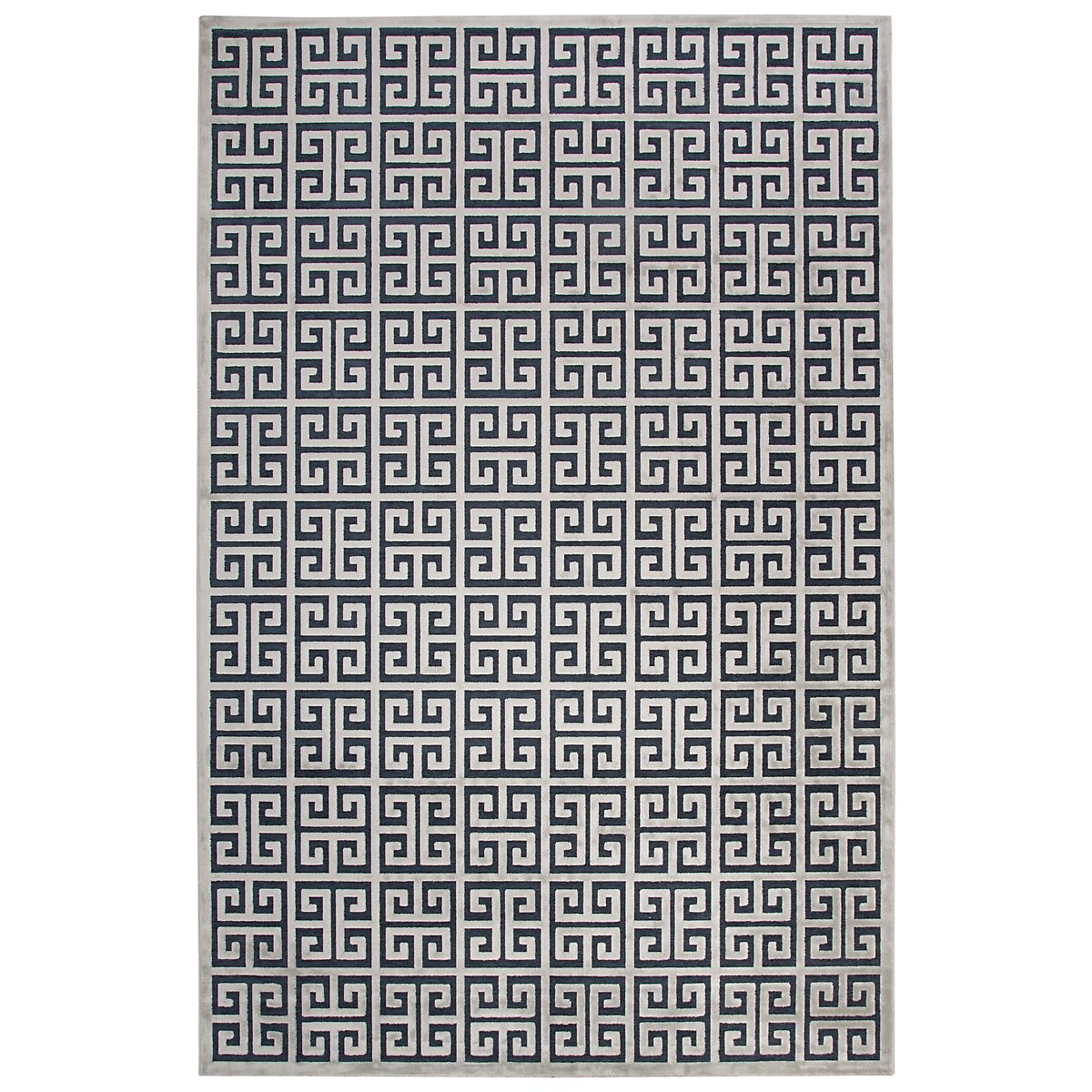 Greek Dark Blue 8X10 Area Rug