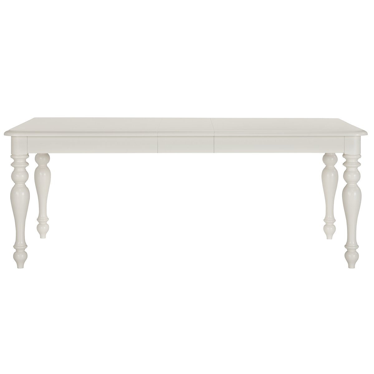 Quinn White Wood Rectangular Table