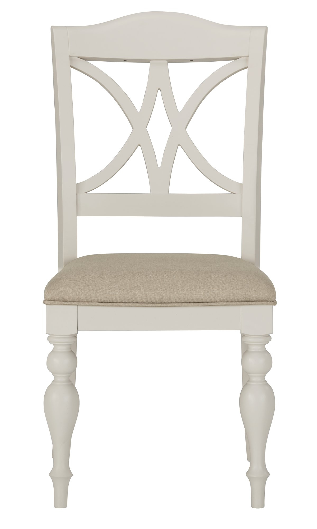 Quinn White Wood Wood Side Chair