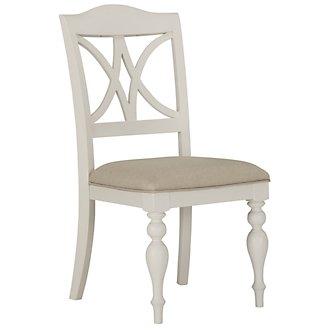 Quinn White Wood Side Chair