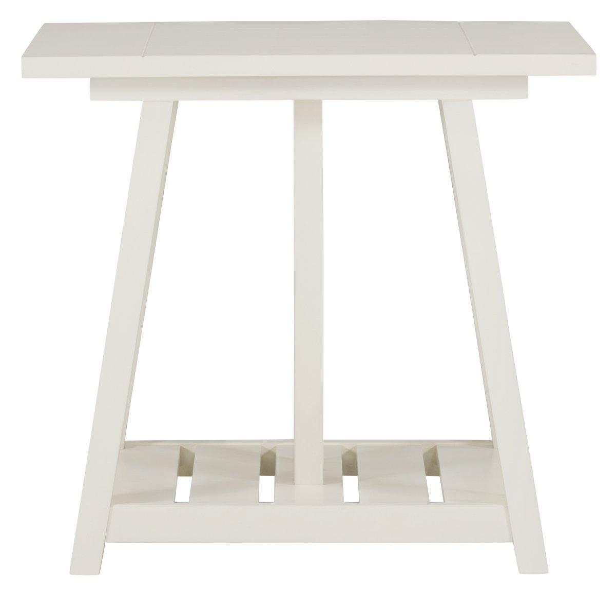 Quinn White End Table