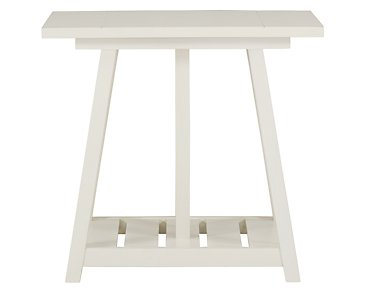 Quinn White End Table