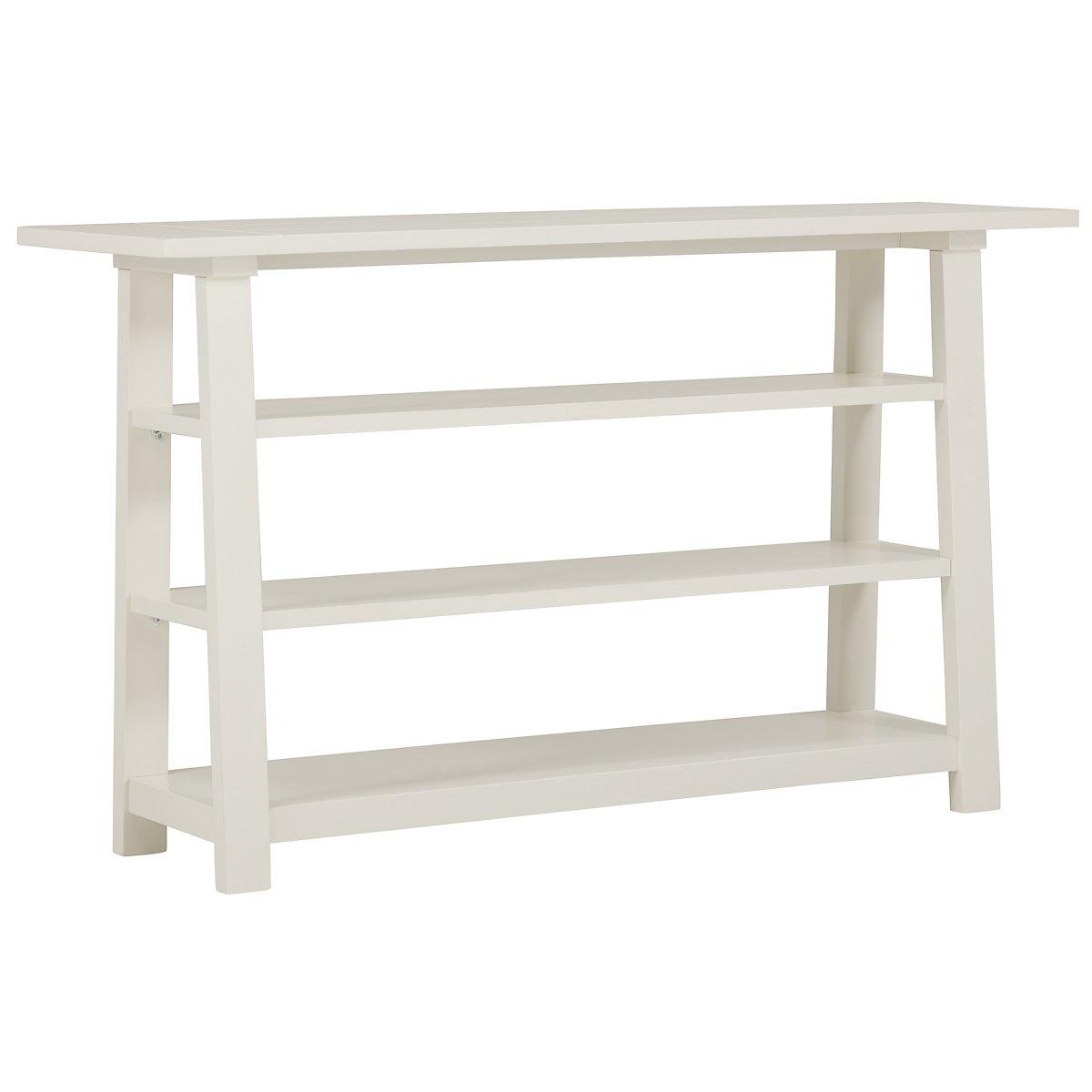 White sofa table - Quinn White Sofa Table View Larger