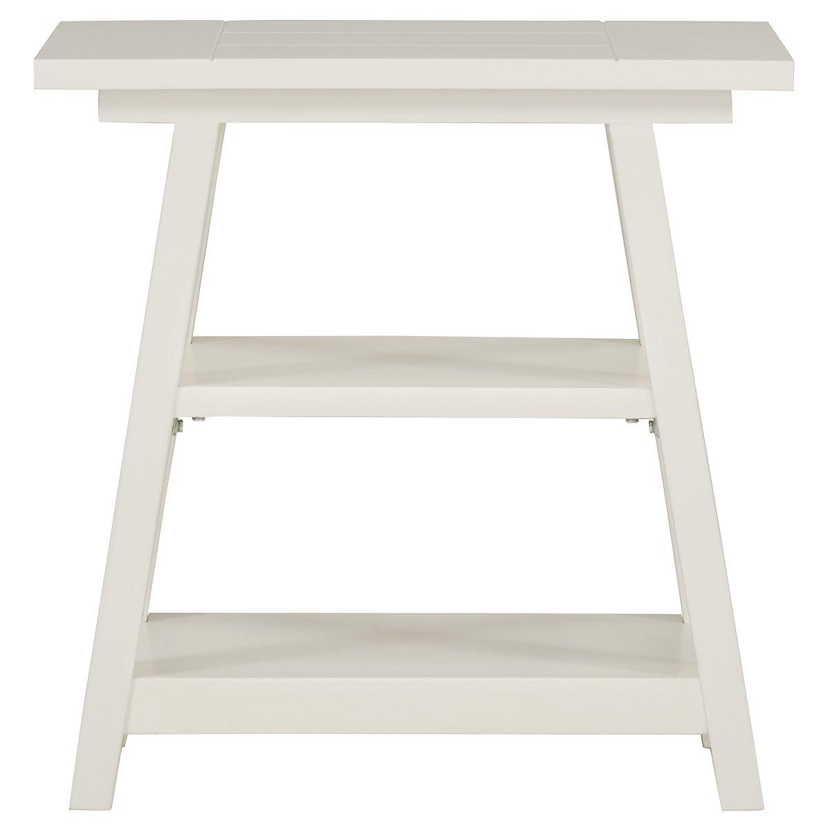 Quinn White Chairside Table