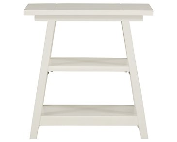 Quinn White Chairside Table