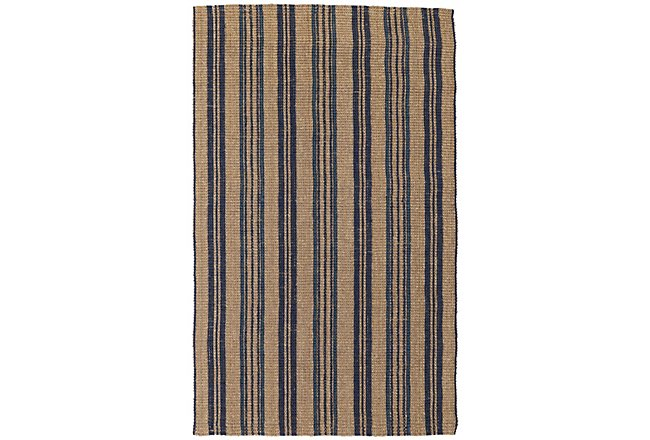 Seagrass Dark Blue Jute 8x10 Area Rug