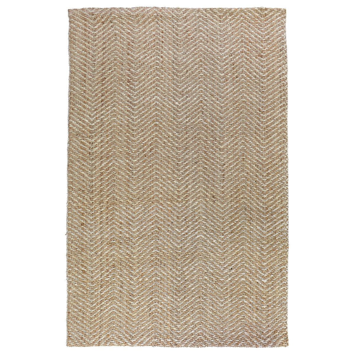 Herringbone White 8X10 Area Rug