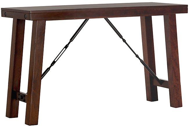 Napa Dark Tone Wood Sofa Table