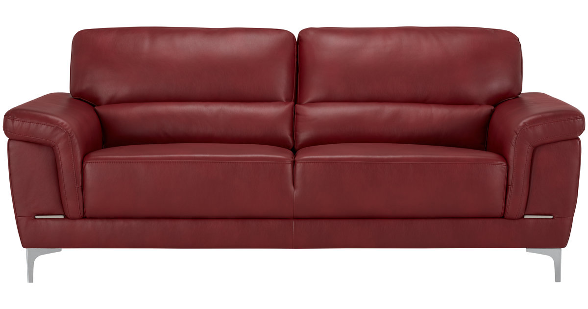 City Furniture: Enzo Red Microfiber Sofa